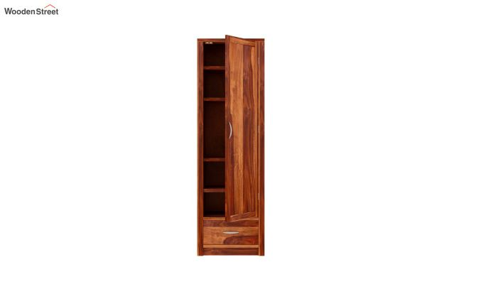 Holden 1 Door Multi-Utility Wardrobe (Honey Finish)-4