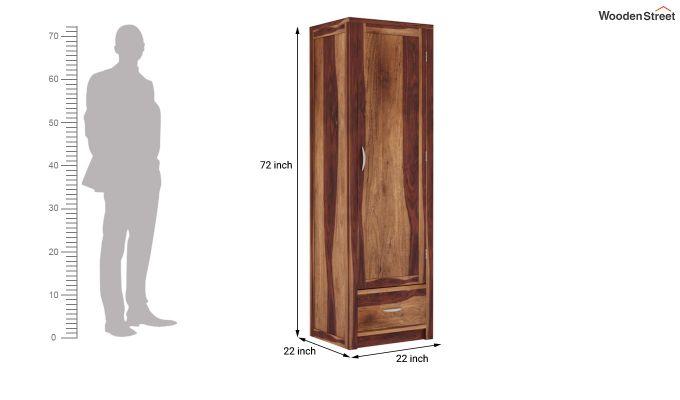 Holden 1 Door Multi-Utility Wardrobe (Teak Finish)-5