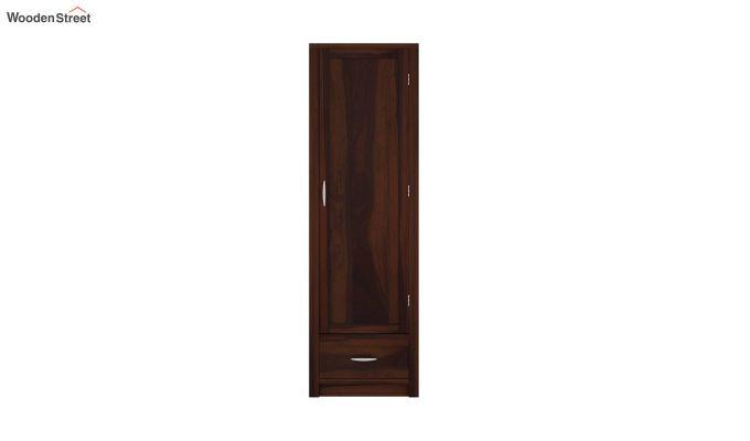 Holden 1 Door Multi-Utility Wardrobe (Walnut Finish)-3
