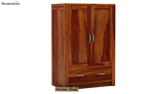 Holden Small Size Wardrobe (Honey Finish)-1