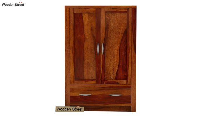 Holden Small Size Wardrobe (Honey Finish)-2