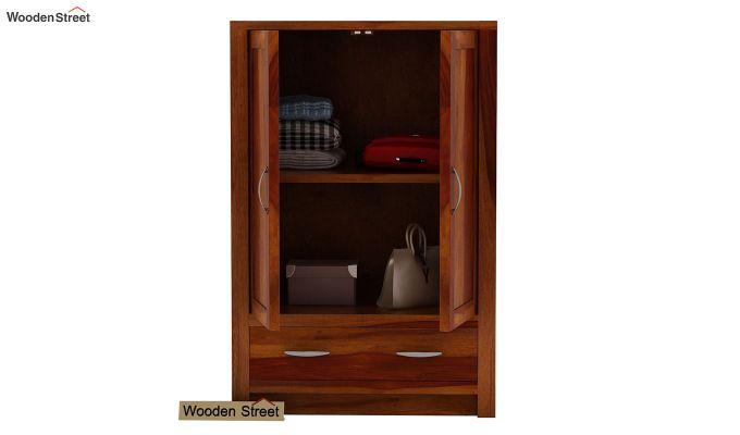 Holden Small Size Wardrobe (Honey Finish)-3