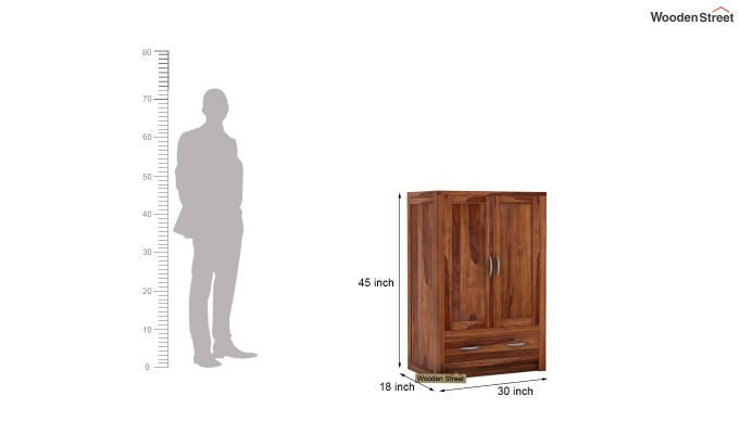 Holden Small Size Wardrobe (Teak Finish)-5