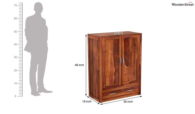 Holden Small Size Wardrobe (Honey Finish)-6