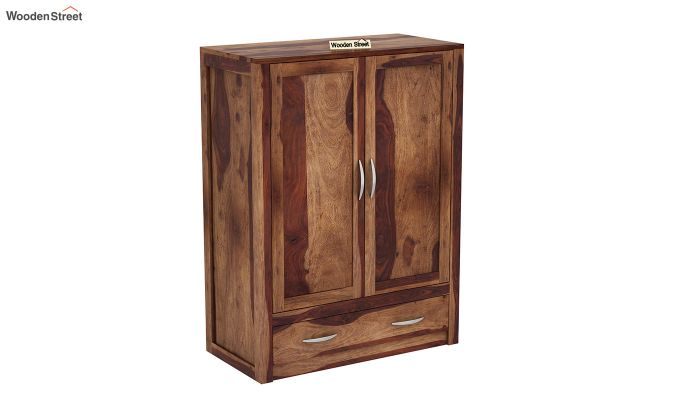 Holden Small Size Wardrobe (Teak Finish)-2