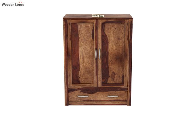 Holden Small Size Wardrobe (Teak Finish)-3