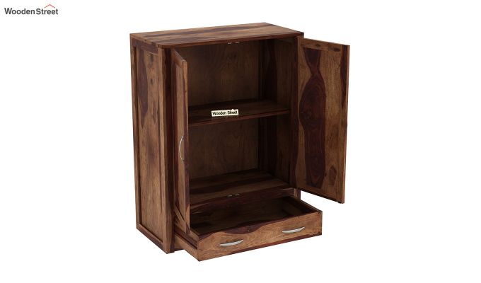 Holden Small Size Wardrobe (Teak Finish)-4