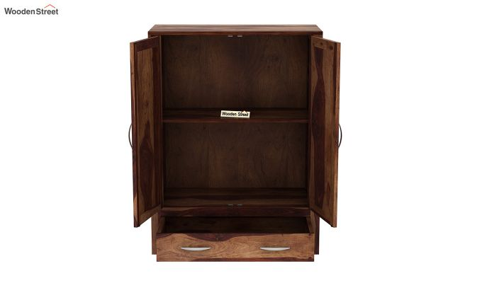 Holden Small Size Wardrobe (Teak Finish)-5