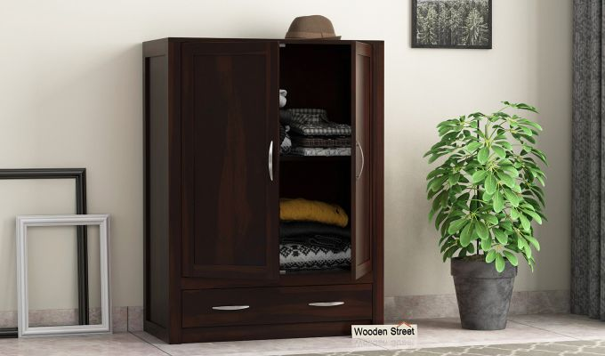 Holden Small Size Wardrobe (Walnut Finish)-1