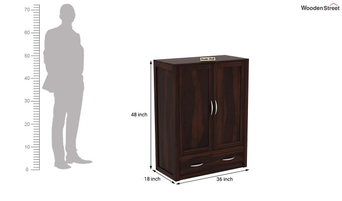 Holden Small Size Wardrobe (Walnut Finish)-6