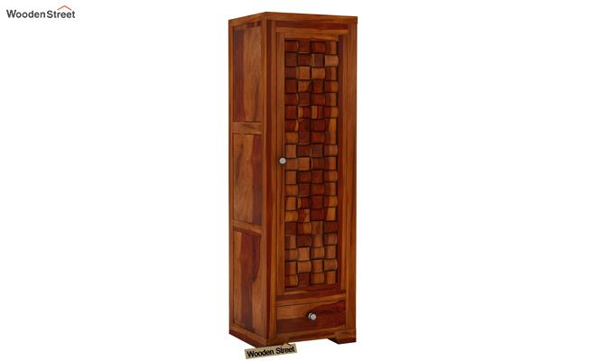 Howler 1 Door Multi-Utility Wardrobe (Honey Finish)-1