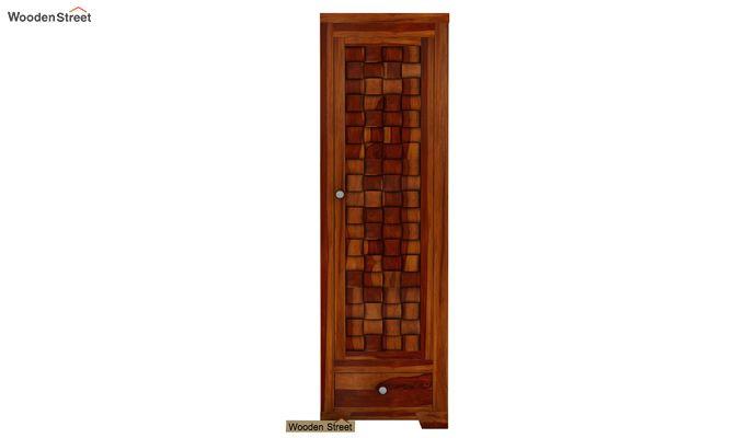 Howler 1 Door Multi-Utility Wardrobe (Honey Finish)-2