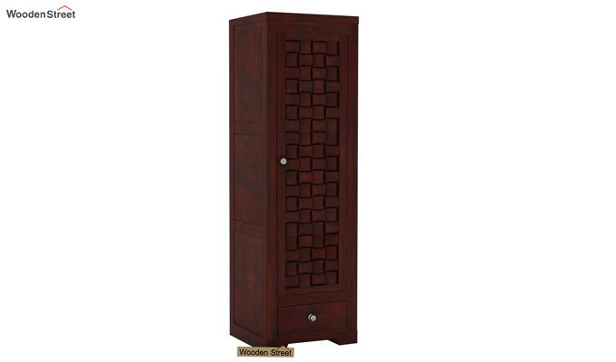 Howler 1 Door Multi-Utility Wardrobe (Mahogany Finish)-1
