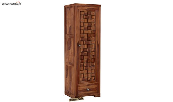 Howler 1 Door Multi-Utility Wardrobe (Teak Finish)-1