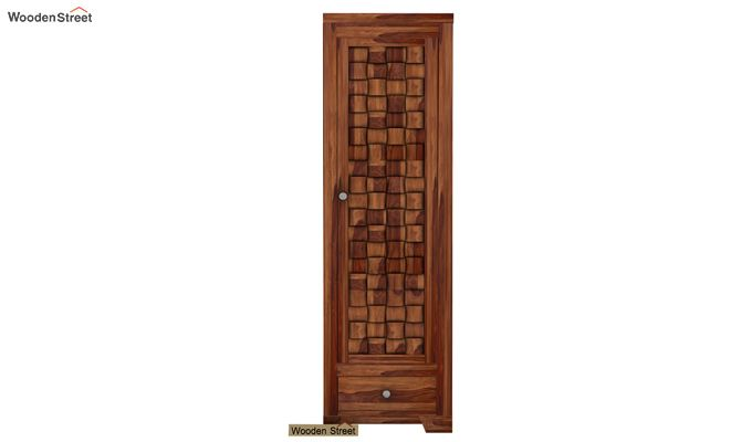 Howler 1 Door Multi-Utility Wardrobe (Teak Finish)-2
