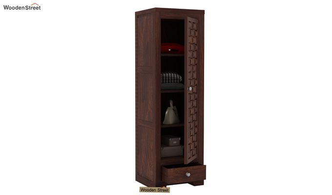 Howler 1 Door Multi-Utility Wardrobe (Walnut Finish)-4