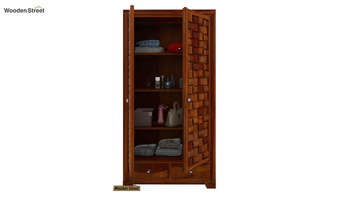 Howler Multi Utility Wardrobe (Honey Finish)-2