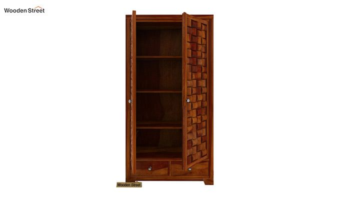 Howler Multi Utility Wardrobe (Honey Finish)-3