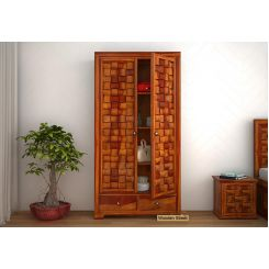 Howler Multi Utility Wardrobe (Honey Finish)
