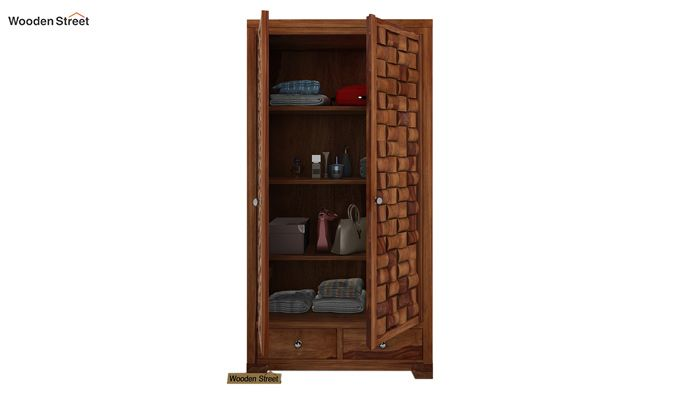 Howler Multi Utility Wardrobe (Teak Finish)-1