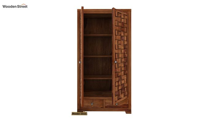 Howler Multi Utility Wardrobe (Teak Finish)-2