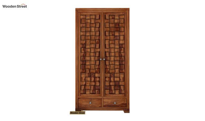 Howler Multi Utility Wardrobe (Teak Finish)-3