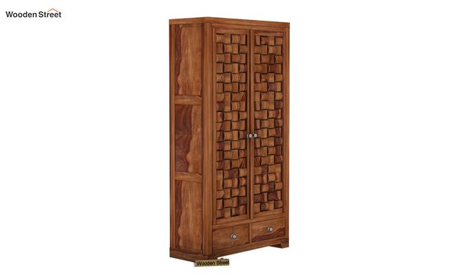 Howler Multi Utility Wardrobe (Teak Finish)-4