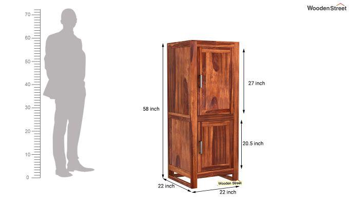 Lacey Medium Size Wardrobe (Honey Finish)-6
