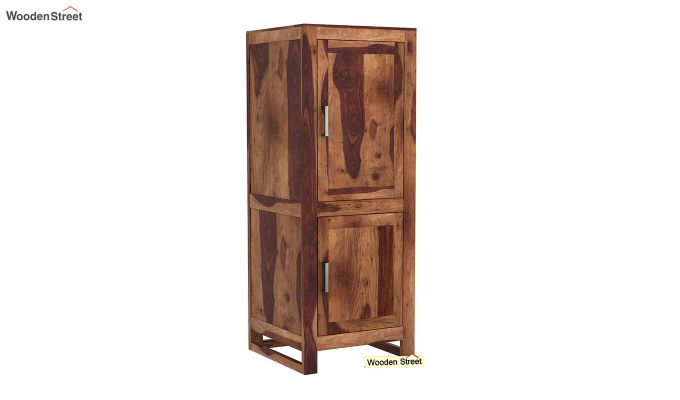 Lacey Medium Size Wardrobe (Teak Finish)-2