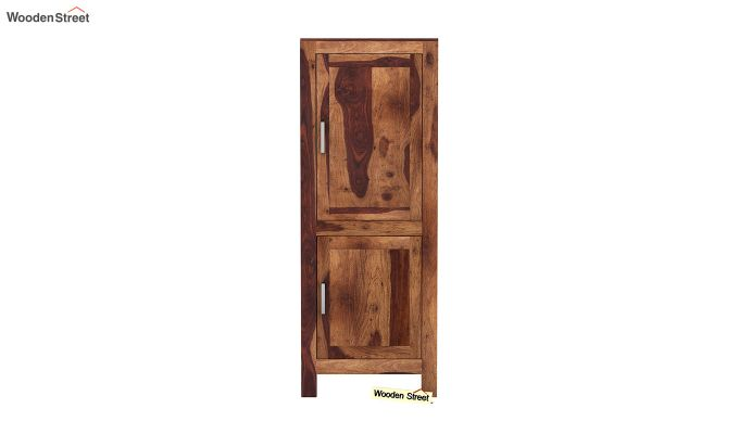 Lacey Medium Size Wardrobe (Teak Finish)-3