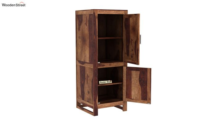 Lacey Medium Size Wardrobe (Teak Finish)-4