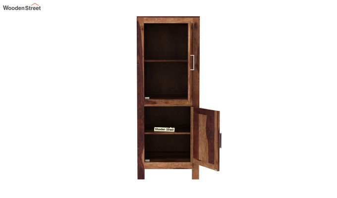 Lacey Medium Size Wardrobe (Teak Finish)-5