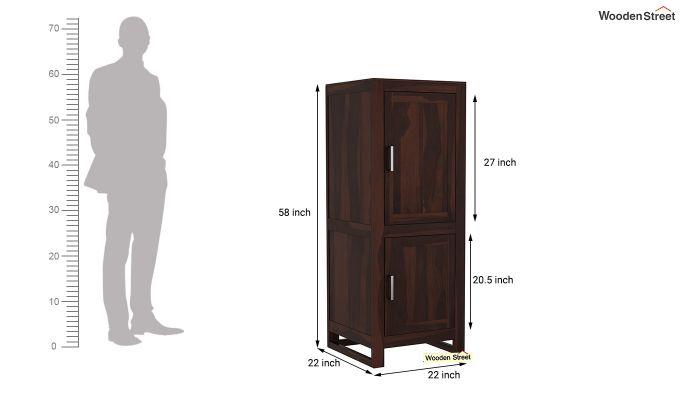 Lacey Medium Size Wardrobe (Walnut Finish)-6
