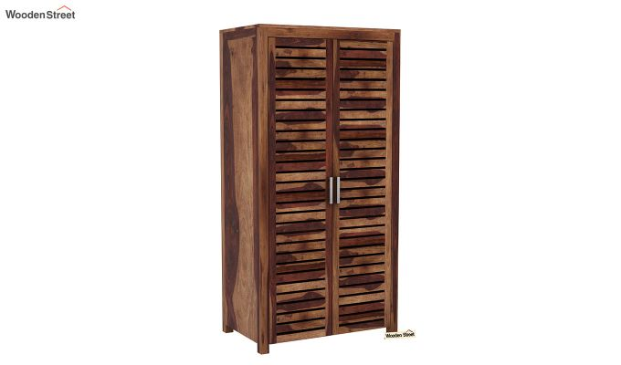 Lynet 2 Door Multi Utility Wardrobe (Teak Finish)-2