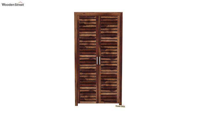 Lynet 2 Door Multi Utility Wardrobe (Teak Finish)-3