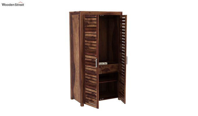 Lynet 2 Door Multi Utility Wardrobe (Teak Finish)-4