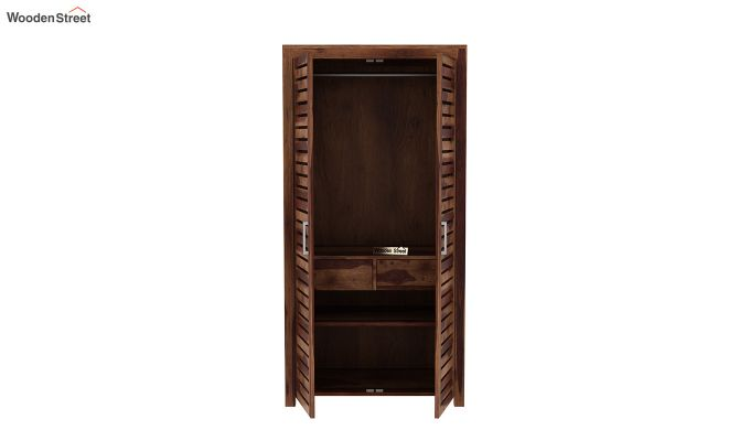 Lynet 2 Door Multi Utility Wardrobe (Teak Finish)-5