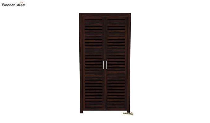 Lynet 2 Door Multi Utility Wardrobe (Walnut Finish)-3