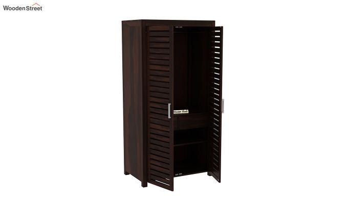 Lynet 2 Door Multi Utility Wardrobe (Walnut Finish)-4