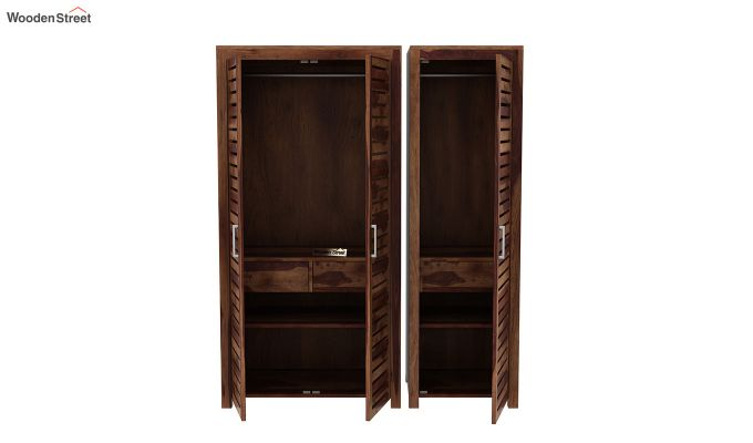 Lynet 3 Door Multi Utility Wardrobe (Teak Finish)-7