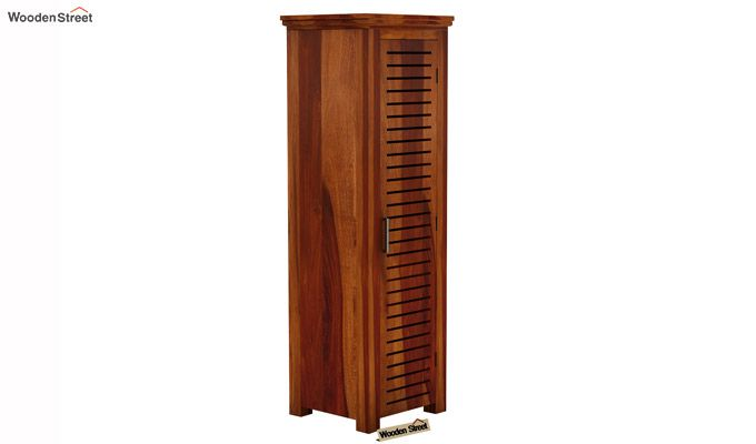 Lynet 1 Door Multi Utility Wardrobe (Honey Finish)-2