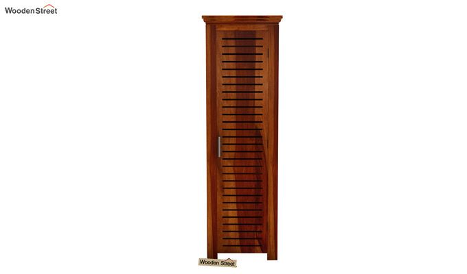 Lynet 1 Door Multi Utility Wardrobe (Honey Finish)-3