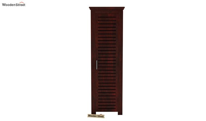 Lynet 1 Door Multi Utility Wardrobe (Mahogany Finish)-2