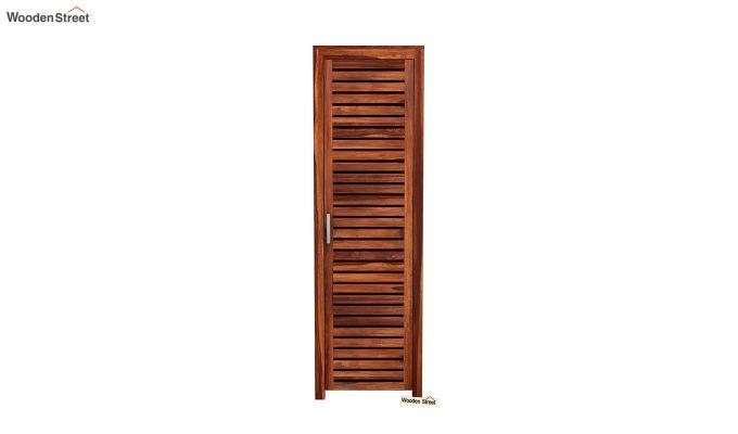 Lynet 1 Door Multi Utility Wardrobe (Honey Finish)-3