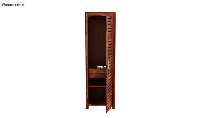 Lynet 1 Door Multi Utility Wardrobe (Honey Finish)-5