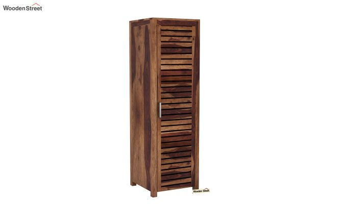 Lynet 1 Door Multi Utility Wardrobe (Teak Finish)-2