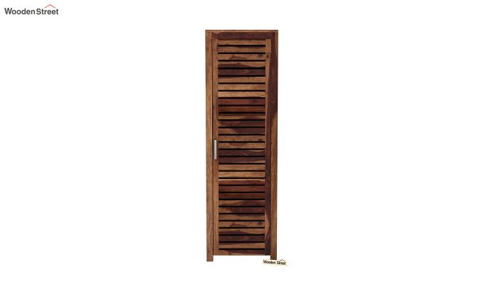 Lynet 1 Door Multi Utility Wardrobe (Teak Finish)-3