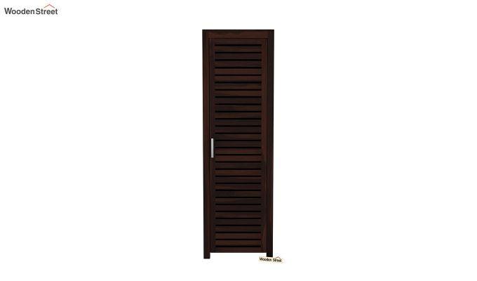 Lynet 1 Door Multi Utility Wardrobe (Walnut Finish)-3