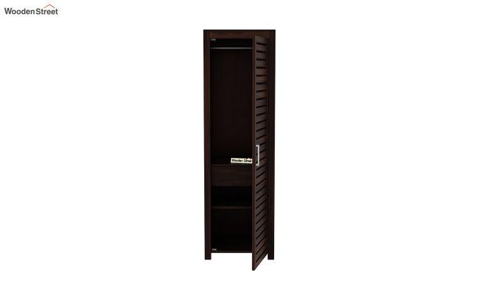Lynet 1 Door Multi Utility Wardrobe (Walnut Finish)-5