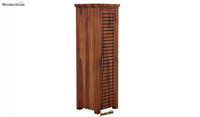 Lynet 1 Door Multi Utility Wardrobe (Teak Finish)-1